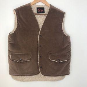 Vintage Cal-jac Sherpa Lined Vest